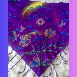 Other - Purple wrap embellished with shells